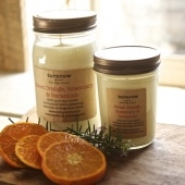 sweet orange, rosemary & geranium candle
