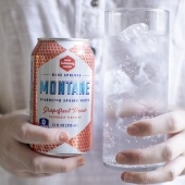 8-pack grapefruit-peach sparkling water