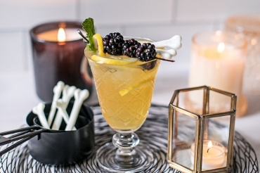 Halloween Blackberry-Mint Cocktail