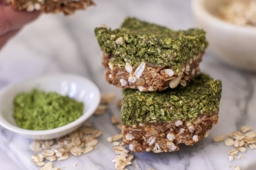 No-Bake Matcha Bars