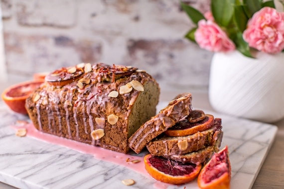 Blood Orange Poppyseed Bread