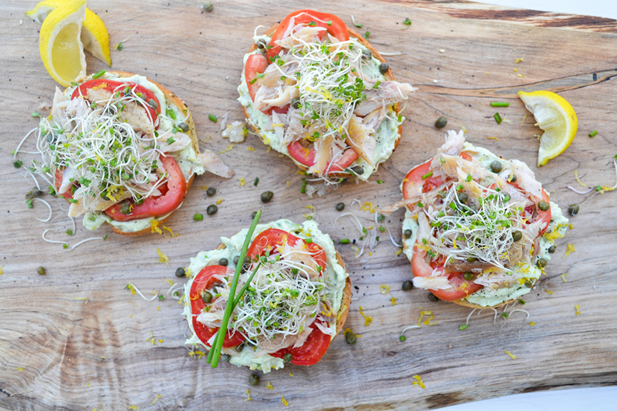 Smoked Trout Bagels