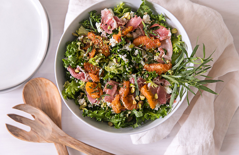Broiled Blood Orange Salad