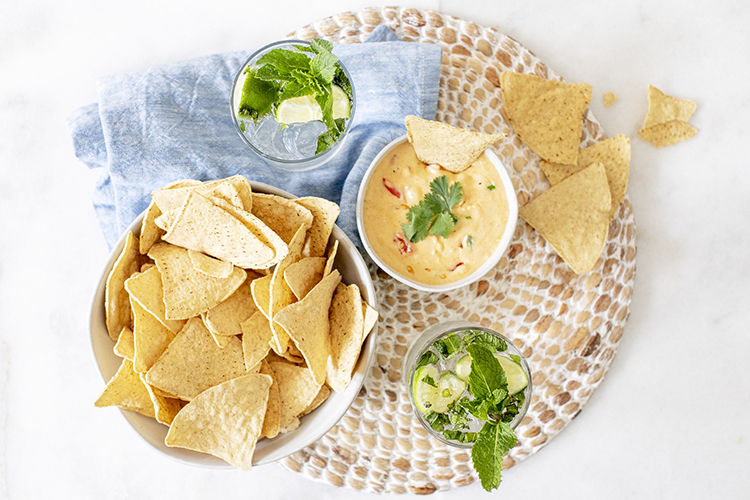 Homemade Queso & Tortilla Chips