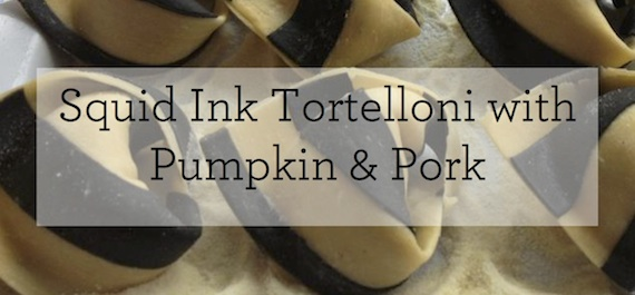 Squid Ink Tortelloni Stuffed with Pumpkin & Guanciale