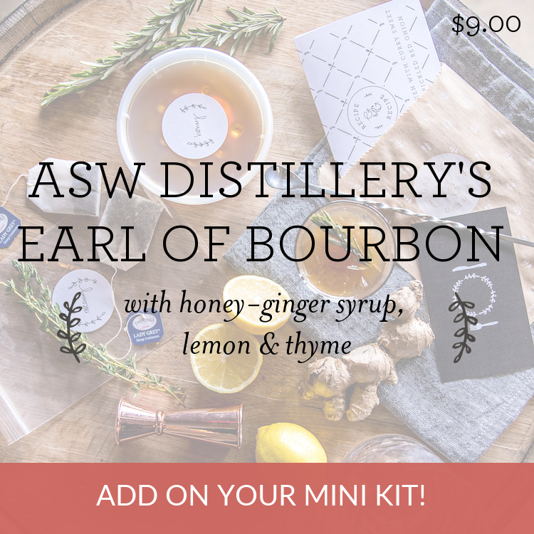 ASW Distillery's Earl of Bourbon with honey-ginger syrup, lemon & thyme