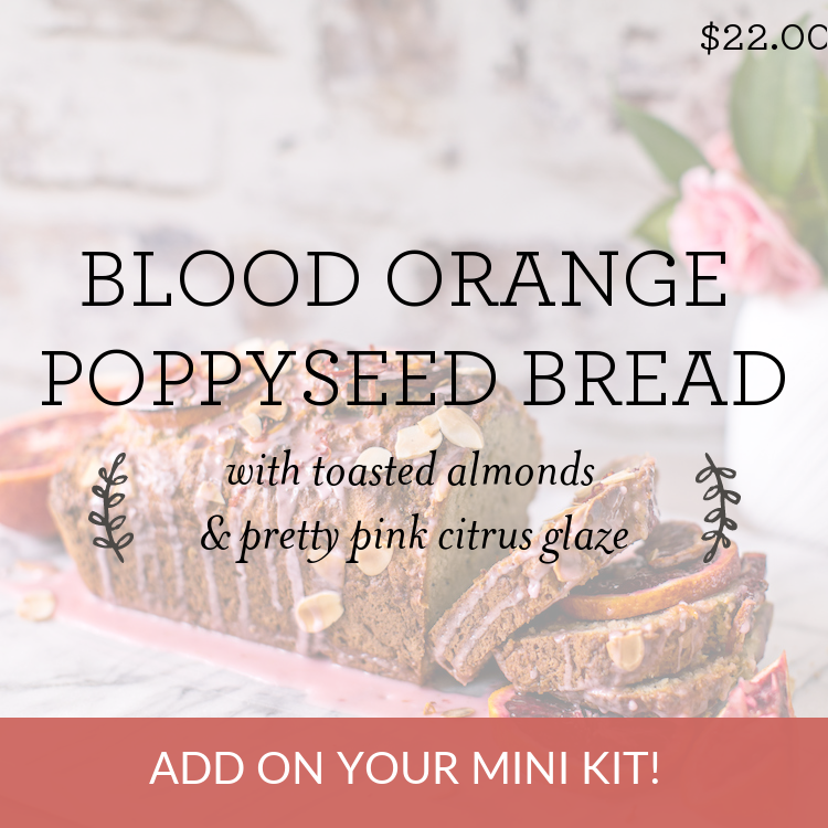 Blood Orange Poppyseed Bread with toasted almonds & pretty pink citrus glaze