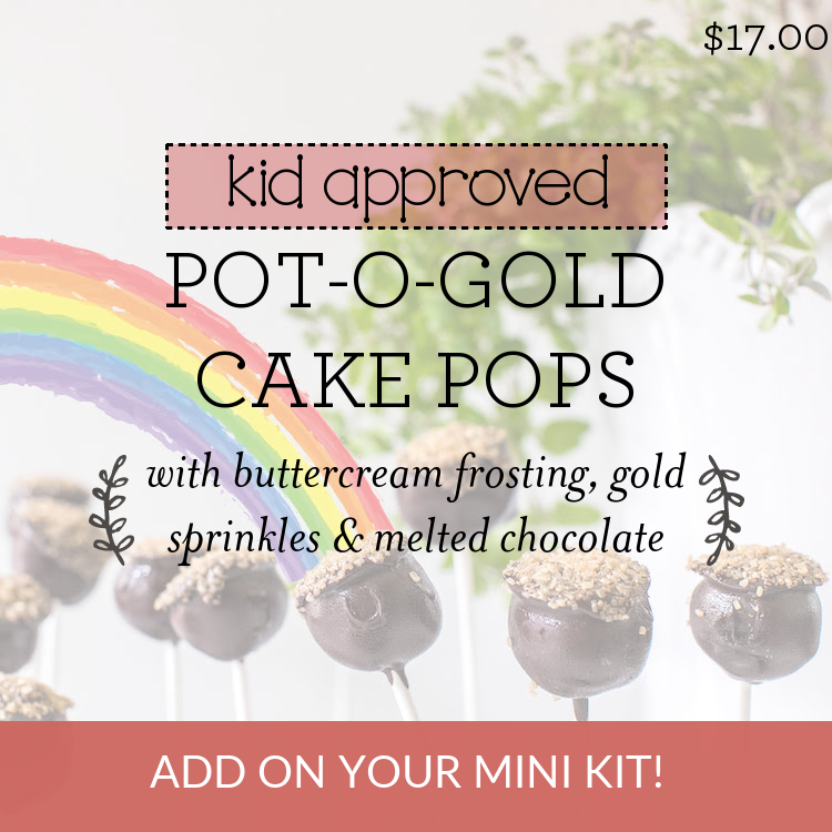 Pot O' Gold Cake Pops with buttercream frosting, gold sprinkles & melted chocolate