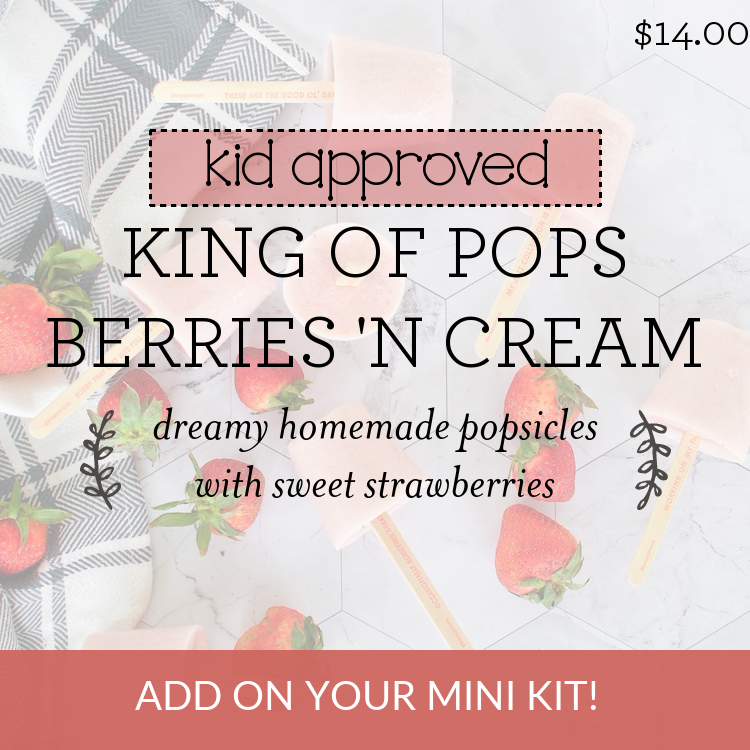 King of Pops Berries 'N Cream dreamy homemade popsicles with sweet strawberries