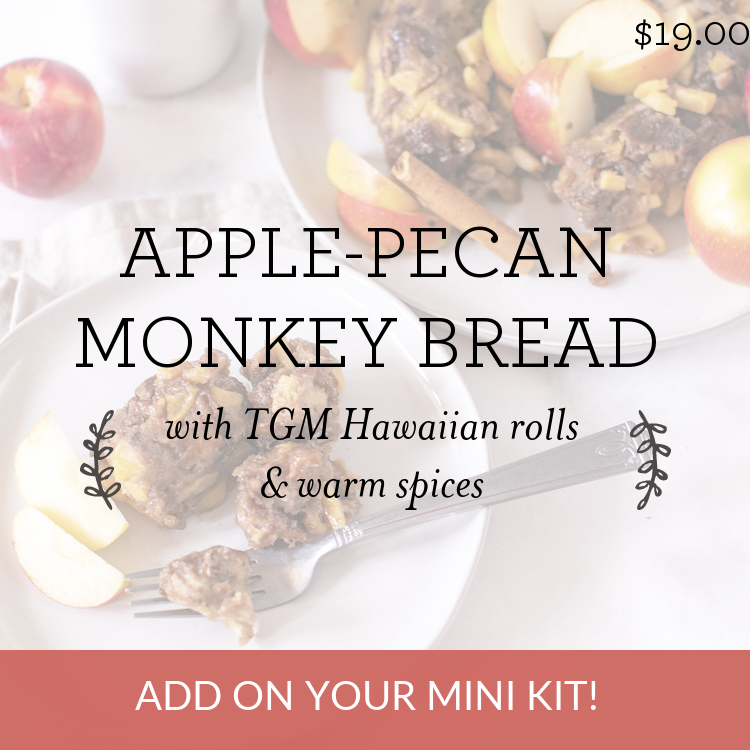 Apple-Pecan Monkey Bread with TGM rolls & warm spices