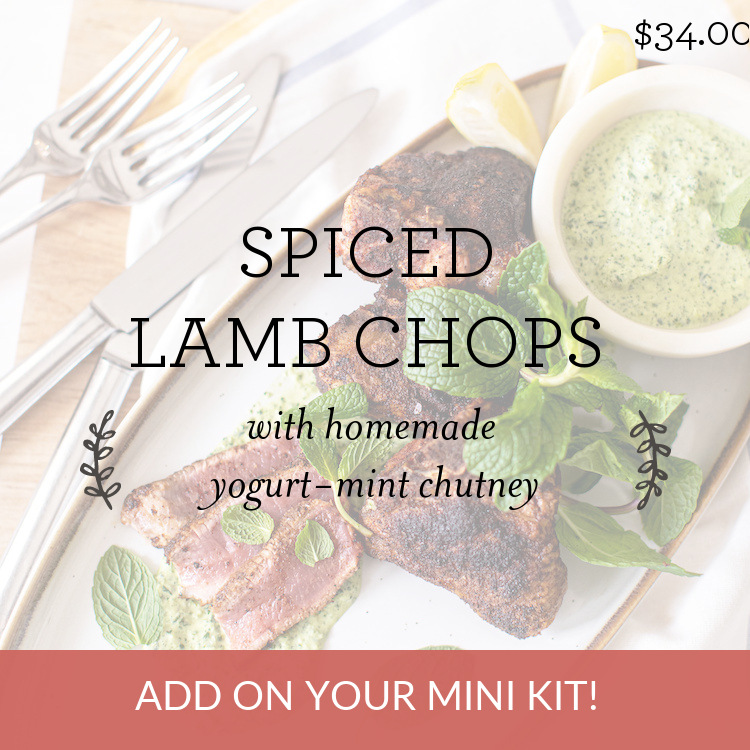 Spiced Lamb Chops with homemade yogurt-mint chutney