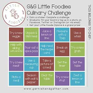 G&G little foodie game