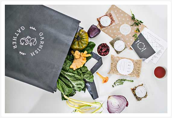 garnish and gather meal kit